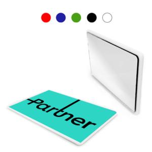 מראה כרטיס אשראי למיתוג במגוון צבעים
