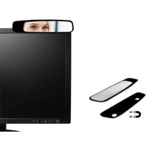 מראה ממותגת למסך מחשב שחורה