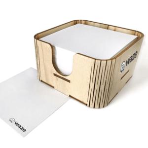 קופסת נייר ממו מעץ