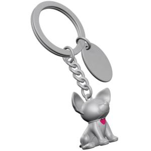 מחזיק מפתחות כלבלב כסוף