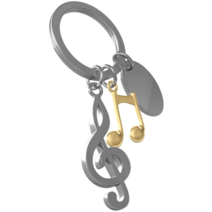 מחזיק מפתחות מוזיקה תווים