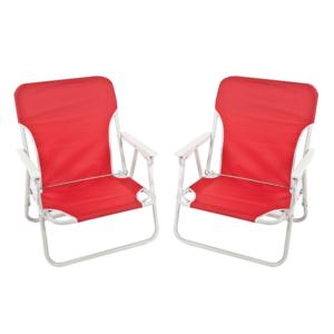 כיסאות ים מתקפלים אדומים