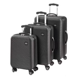 סט מזוודות סוויס שחורות