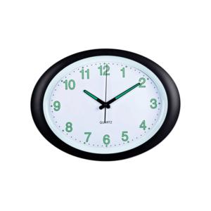 שעון קיר אובלי לבן