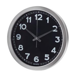 שעון קיר עגול למיתוג שחור