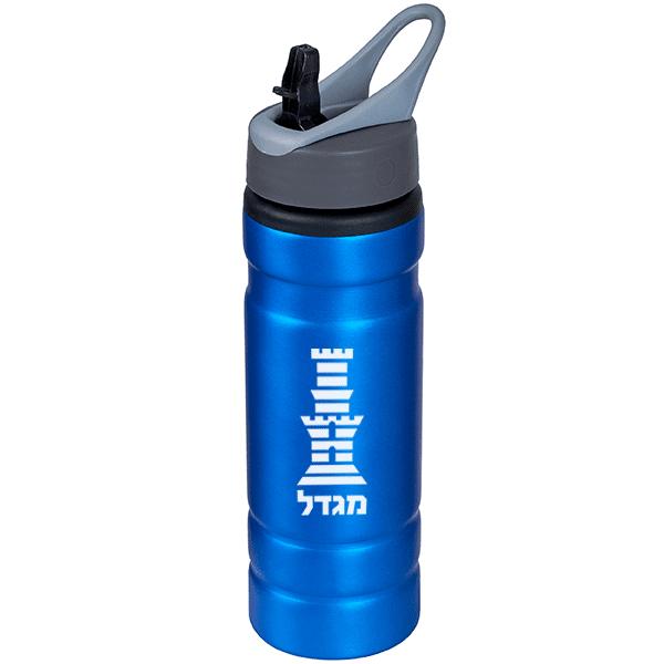 בקבוק ספורט עם לוגו לבן