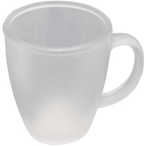 ספל זכוכית חלבי למיתוג עם ידית