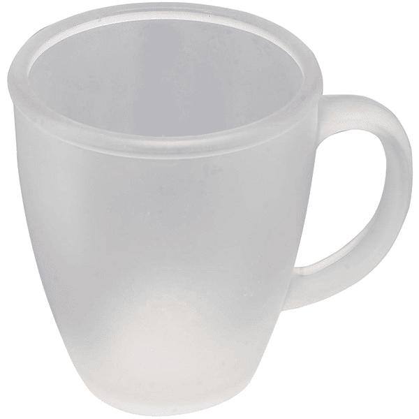 ספל זכוכית חלבי למיתוג