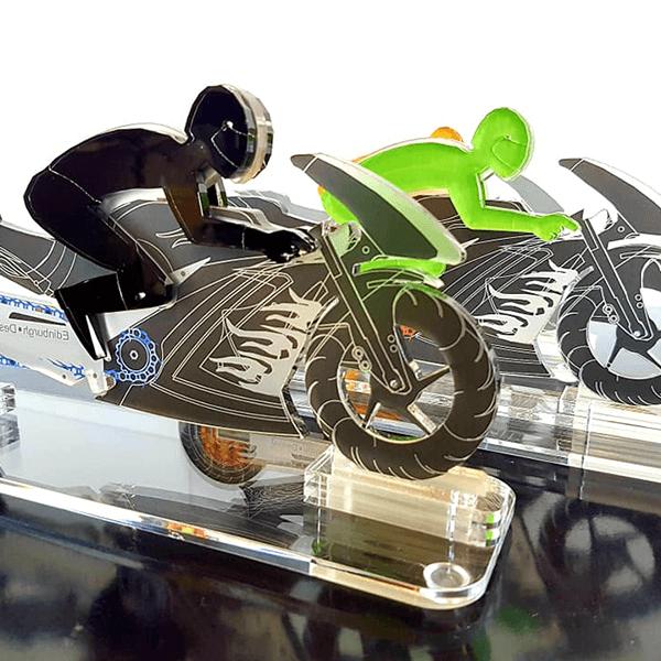 פסלון אופנוע תלת מימדי