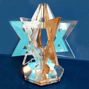 פסלון מגן דוד תלת מימדי ייחודי