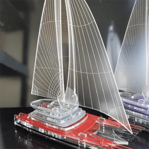 פסלון סירה תלת מימדי ייחודי