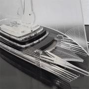 פסלון סירה תלת מימדי