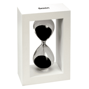 שעון חול למשרד לבן