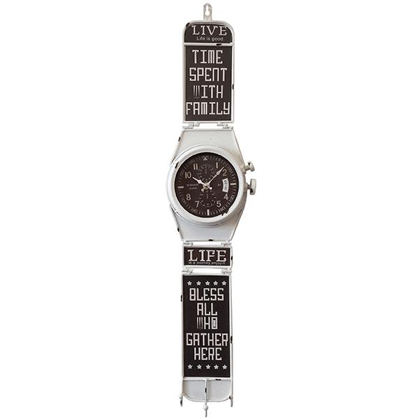 שעון קיר דמוי שעון יד לבן