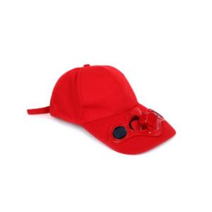 כובע מאוורר סולארי אדום