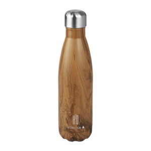 בקבוק נירוסטה דמוי עץ למתנה