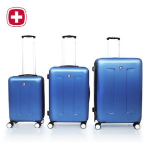 סט 3 מזוודות SWISS צבע כחול