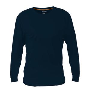 חולצת טריקו ארוכה למיתוג צבע כחול כהה