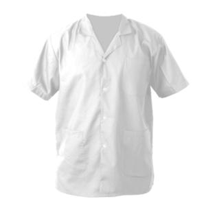 חולצת כפתורים קצרה לבנה