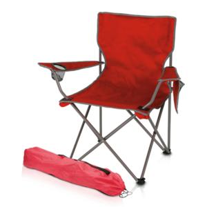 כיסא חוף מתקפל למיתוג אדום