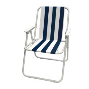 כיסא חוף פסים כחולים