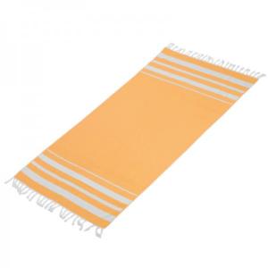 מגבת חוף מלבנית צהובה