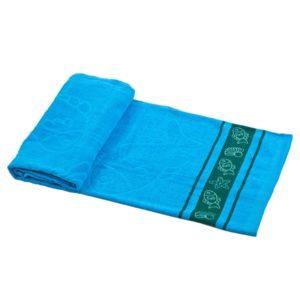 מגבת חוף מאויירת כחולה