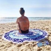מגבת מנדלה עגולה לחוף