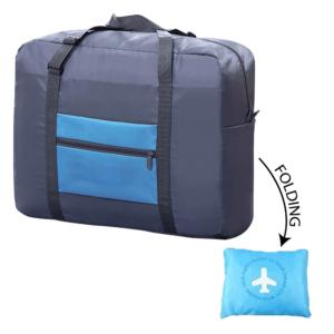 תיק נסיעות מתקפל כחול