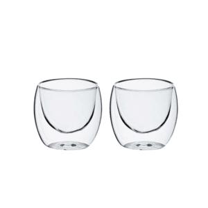 זוג כוסות אספרסו דופן כפולה מתנה