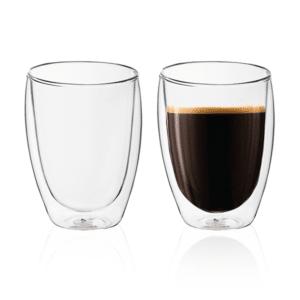 זוג כוסות קפה דופן כפולה מתנה
