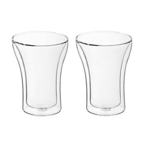 זוג כוסות שתיה דופן כפולה מתנה