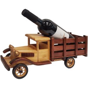 מעמד לבקבוק יין בעיצוב משאית למתנה