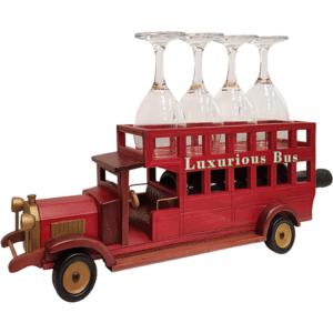 מעמד לכוסות יין בעיצוב אוטובוס למתנה