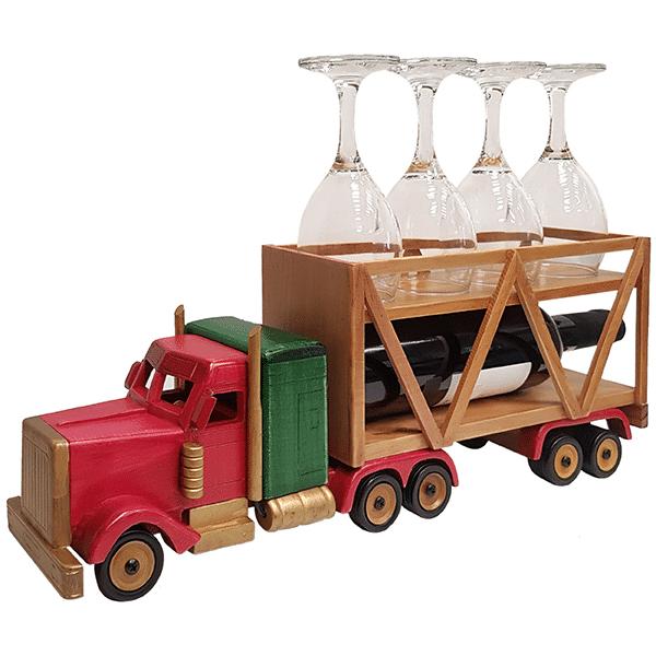מעמד לכוסות יין בעיצוב משאית