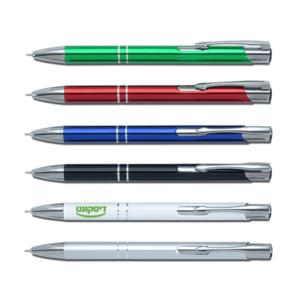 עט מתכת כולל לוגו לעסקים במגוון צבעים