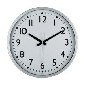 שעון קיר כסוף משרדי עגול