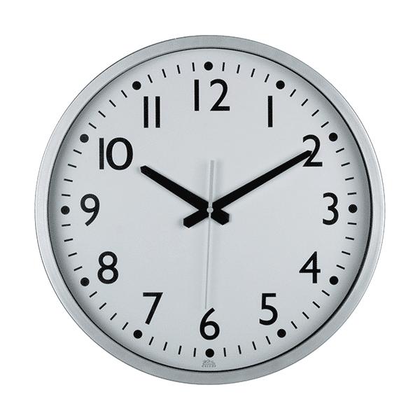 שעון קיר כסוף משרדי