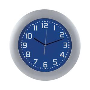 שעון קיר למיתוג כחול