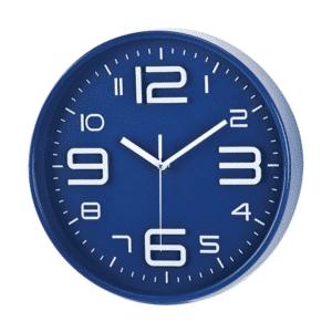 שעון קיר מעוצב למיתוג כחול