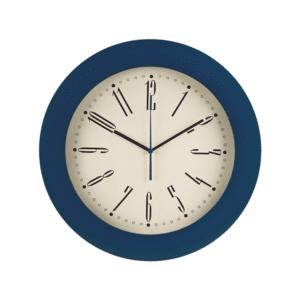 שעון קיר עגול למיתוג כחול