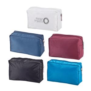 תיק רחצה איפור עם מיתוג במגוון צבעים
