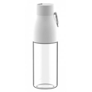 בקבוק ספורט שקוף עם שאקל צבע לבן
