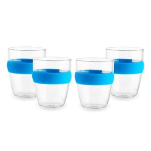 סט כוסות קפה עם חבק כחול