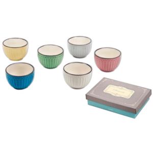 סט כלים לקינוחים צבעוני