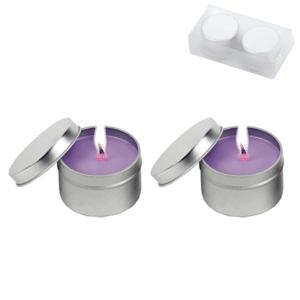 זוג נרות ריחניים במארז סגול