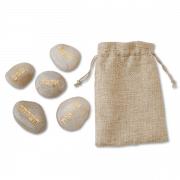 חלוקי נחל אבנים עם ברכות