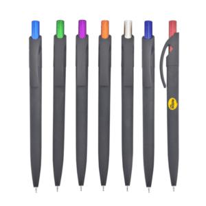 אביבה עט ג'ל עם קליפס שחור כולל לוגו לעסקים