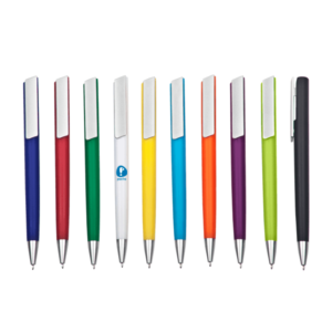 אביעם עט ג'ל גוף פלסטיק צבעוני כולל לוגו