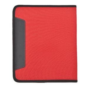 אבירז מכתבייה עם בלוק נייר בצבע אדום